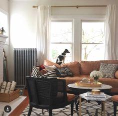 Jess Lively living room - JessCLively on Instagram