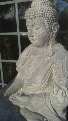 Life sized seated Abhaya Mudrâ Buddha statue-just completed