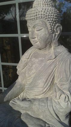 Life sized seated Abhaya Mudrâ Buddha statue-just completed