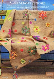 Crochet En Acción : flower appliques pattern