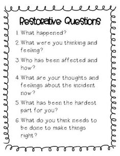 Restorative Practices by The Optimistic Swan High School Counseling, School Social Work, School Counselor, Coping Skills, Social Skills, Restorative Practices School, Restorative Circles, Classroom Behavior, Classroom Management
