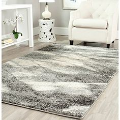Shop for Safavieh Retro Modern Abstract Grey/ Ivory Rug (5' x 8'). Get free shipping at Overstock.com - Your Online Home Decor Outlet Store! Get 5% in rewards with Club O!