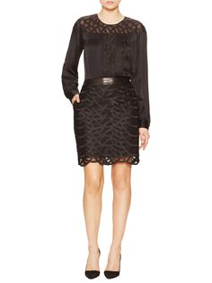 Mayah Scalloped Lace Skirt from Catherine Malandrino on Gilt