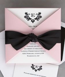 Stylish Wedding Invitations-Available in 4 Colors! from The American Wedding Album. As one of the top manufacturers of wedding announcements online, we also carry a large selection of save the date cards, wedding favors and wedding accessories. Black Wedding Invitations, Elegant Wedding Invitations, Wedding Stationary, Wedding Invitation Cards, Wedding Themes, Wedding Cards, Wedding Programs, Invites, Trendy Wedding