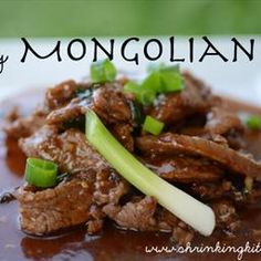 Easy Mongolian Beef on BigOven: from shrinking kitchen.com