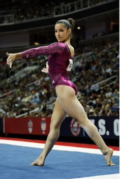 "Alexandra Raisman- she ""wasn't supposed"" to have qualified for the AA but she did at the 2012 London Games. Nailed her routines but narrowly missed the podium."