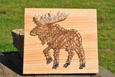 Moose String Art by SouthernStringCo