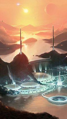 Star citizen video game wallpaper www. Space Fantasy, Fantasy City, Fantasy Places, Sci Fi Fantasy, Fantasy World, Star Citizen, Futuristic City, Futuristic Architecture, Landscape Architecture