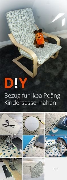 Tutorial ✂ How to sew your cover for an Ikea Poäng Kids Chair . DIY : une housse pour le fauteuil Poang d'Ikea DIY IKEA Poang Chair Cover Ikea Poäng Kindersessel Bezug mit rosa Wolken Nursery: Ikea poang chair recover Beginner Knitting Projects, Easy Sewing Projects, Sewing Projects For Beginners, Sewing Tutorials, Sewing Tips, Sewing Hacks, Sewing Ideas, Sewing Crafts, Baby Knitting Patterns