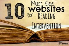 10 Websites for Reading Intervention Lessons and Tools