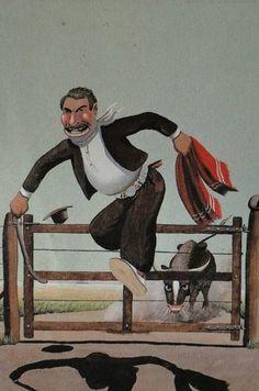 Florencio Molina Campos South America, Illustration, Photoshop, Cartoon, Comics, Painting, Printables, Men, Folklore