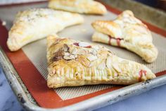 Baked Strawberry Almond Turnovers