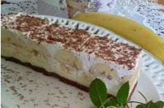 Banánové kocky (fotorecept) - recept | Varecha.sk Tiramisu, Treats, Ethnic Recipes, Sweet, Pergola, Sweet Like Candy, Goodies, Outdoor Pergola, Tiramisu Cake