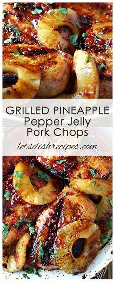 Pepper Jelly Recipes, Hot Pepper Jelly, Pineapple Pepper Jelly Recipe, Pork Chop Recipes, Grilling Recipes, Cooking Recipes, Healthy Grilling, Sausage Recipes, Chicken Recipes