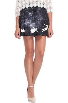 ROMWE | Angel Print Galaxy Skirt, The Latest Street Fashion
