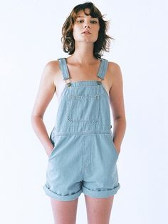 Denim Short-All by American Apparel.  $88 -  I need this in my life.  Nostalgic piece of recycled style.
