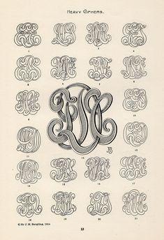 Art Monograms & Lettering, J.M Bergling, 1914.