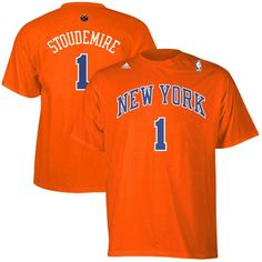 Amar'e Stoudemire New York Knicks adidas Net Number T-Shirt – Orange