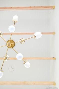 DIY bent arm chandelier