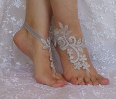 Gray unique. silver frame sandals. smoked unique by SummerFeetS