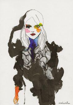 London Fashion Week by Conrad Roset for SHOWstudio