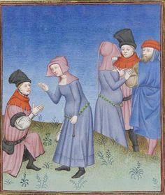 Publius Terencius Afer, Comoediae [comédies de Térence] ca. 1411;  Bibliothèque de l'Arsenal, Ms-664 réserve, 124r