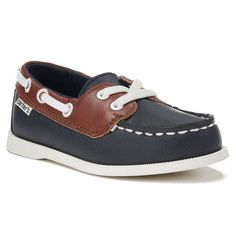 Carter's Ian 2 Toddler Boys' Boat Shoes, Boy's, Size: 10 T, Blue (Navy)