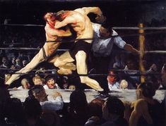 George Wesley Bellows. Stag night at Sharkeys,1909