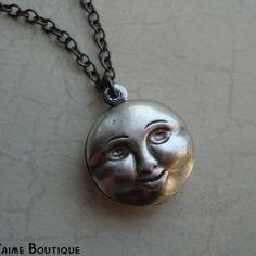 3D moon charm