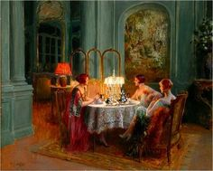 High Tea and Gossip by Delphin Enjolras