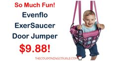 So much fun for baby! Grab the Evenflo ExerSaucer Door Jumper for only $9.88 shipped!   Click the link below to get all of the details ► http://www.thecouponingcouple.com/evenflo-exersaucer-door-jumper/ #Coupons #Couponing #CouponCommunity  Visit us at http://www.thecouponingcouple.com for more great posts!