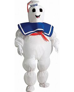 Ghostbusters Stay Puft Marshmallow Man Inflatable Boys Costume - Spirithalloween.com