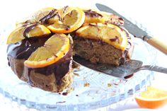 Orange Spiced Tea Cake with Choc-Orange Ganache. I just love this flavour combo. Pop the kettle on!