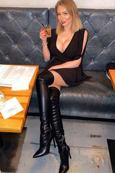 Lover Of Gorgeous Thigh High Boots Outfit, Womens Thigh High Boots, Thigh High Heels, High Leather Boots, Black Thigh High Boots, Black Boots, Botas Sexy, Sexy Boots, Over The Knee Boots