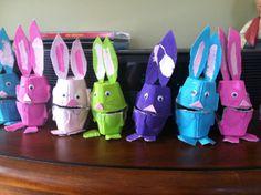 Egg carton Easter bunnies