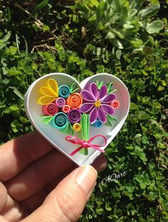 Heart Magnet-Mini Quilling Bouquet in a Heart-Hendmade Magnet-Quilled Bouquet-Unique gift-Wedding Gift-Paper anniversary Gift-Love Gift Excited to share this item from my shop: Heart Magnet-Mini Quilling Bouquet in a Heart-Hendmade Magnet- Quilling Work, Origami And Quilling, Quilling Paper Craft, Paper Quilling Patterns, Quilled Paper Art, Love Gifts, Unique Gifts, Paper Anniversary, Wedding Anniversary