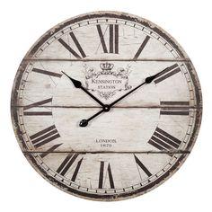 Horloge en bois beige D 60 cm TRIANON