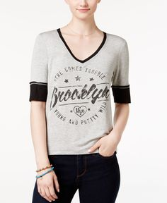 Pretty Rebellious Juniors' Brooklyn Graphic T-Shirt