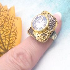 Topas weiß schwarz gold gothic Design Ring Ø 17,0 mm 925 Sterling Silber neu Topas, Black Rhodium, Bracelet Watch, Gothic, Watches, Bracelets, Accessories, Design, Fashion