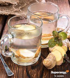 Infusión de jengibre: Corta un tallo de jengibre en rodajas. Ponlas en agua hasta que hierva y después retira del fuego. Añade azúcar al gusto o miel. Puedes servirla fría o caliente.