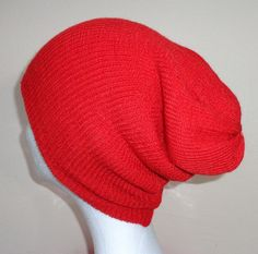 Red Double Layered Cap    Icelandic Production by HuldaGK on Etsy