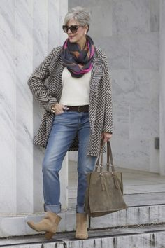 Best 50 Ideas Fashion Outfits Women Over 40 Beste 50 Ideen Mode Outfits Frauen über 40 Over 60 Fashion, Mature Fashion, Over 50 Womens Fashion, 50 Fashion, Denim Fashion, Autumn Fashion, Fashion Outfits, Older Women Fashion, Fashionable Outfits