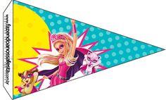 Bandeirinha Sanduiche 5 Barbie Super Princesa