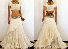 BOHO GYPSY BIG & LONG BELLY DANCE WRAP SKIRT. I wonder if I could recreate…