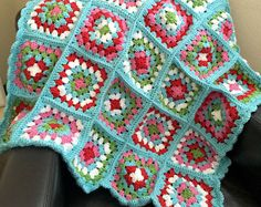 #grannysquare #blanket  #vintage