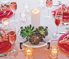 Summer Tablescapes for Cocktail Parties | partylite-succulent-tropical-orange-and-red-tablescape1.jpg