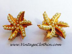 Coming Soon …  Signed BSK Gold Tone Leaves and Seeded Pearl Clip-on Earrings  http://shop.vintageclothin.com/   #Vintageearrings #earrings #retroearrings #BSKearrings #Vintageearrings #retro #retrojewelry #vintagejewelry #retroearrings #retrojewelry, #vintage #vintageclothin #vintagefashion #beautiful # love #cute #fashion #pretty #old #gorgeous #Vintageseller #vintagestyle #vintagefind #vintagefinds #vintageshop #vintagestore #vintagejewlery #retro #vintageshopping #forsale #buyme