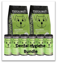 Pooch and Mutt Healthy Dog Food Dental Hygiene Bundle