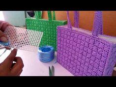Aprender a bordar con rafia y haz lindos bolsos en plastic canvas