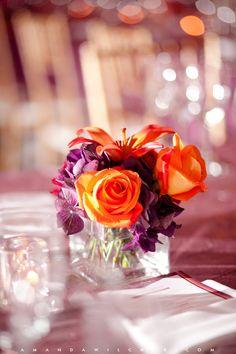 #wedding #flower #table #centerpiece #roses © Amanda Wilcher Photographers Neutral Wedding Flowers, Orange Wedding Flowers, Spring Wedding Flowers, Wedding Flower Decorations, Wedding Flower Arrangements, Flower Centrepieces, Aisle Decorations, Flowers Decoration, Autumn Wedding